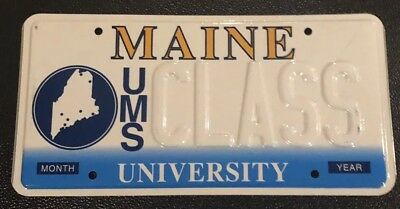 Maine UMS CLASS License Plate