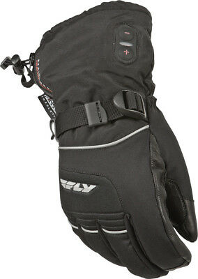 Fly Racing Ignitor II Heated Cold Weather Glove Black Snowmobile Size Large