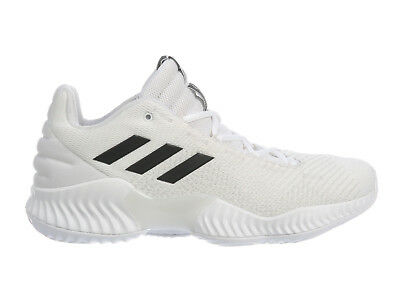 f9043e72eeb0d Mens Adidas Pro Bounce Low 2018 Basketball Shoes Trainers White Black