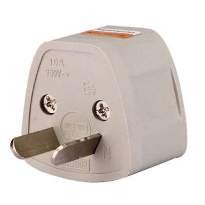 US EU UK Universal to AU (Type I) Australia AC Power Plug Adapter Converter PY