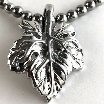Arthur Court Necklace Aluminium Grape Leaf 18 to 20in Beaded Chain Jewelry