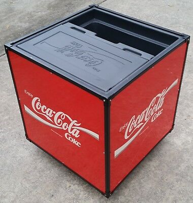 """Very Rare and Unique Coca Cola Cooler - """"Bicycle"""" Ice Chest Prototype"""