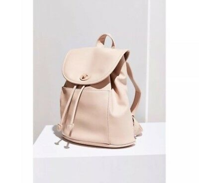 ba395aa26 NWT Urban Outfitters Vegan Leather Classic Turnlock Pink Drawstring Backpack  Bag
