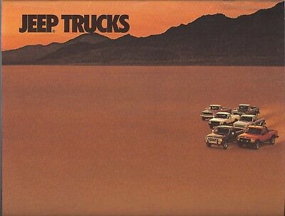 1987 Jeep Comanche, J10, J20 Pickup Truck brochure, 28 pages, $6 Free Shipping