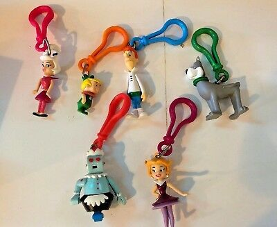 The JETSONS Clip On (6) JACK IN THE BOX JACK'S KID'S MEAL BACK PACK BUDDIES 2000
