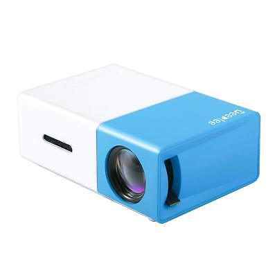 DeepLee DP300 Mini Projector, Portable LED Projector Home Cinema Theater (BLUE)