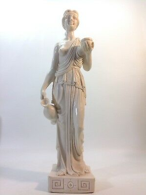 Good Quality Vintage Faux Marble  Statue of Woman