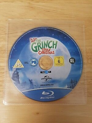 *new* Dr Seuss' How The Grinch Stole Christmas Blu-Ray (Disc Only) Jim Carrey