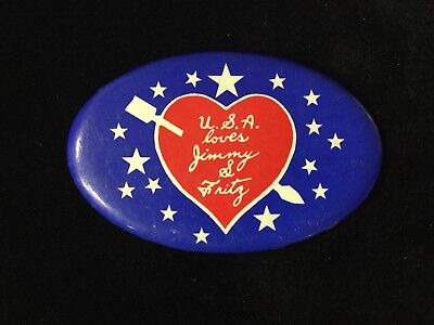 U.s.a. Loves Jimmy And Fritz 3 Inch Button. Box 7