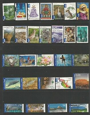 28 Australian International Post stamps including self adhesive used