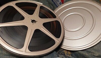 LARGE Vintage SCHERER METAL SUPER 8 S8 HOME MOVIE FILM REEL WITH MATCHING CAN