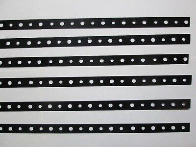 Six pieces Black Powdercoated Steel Mini Strap