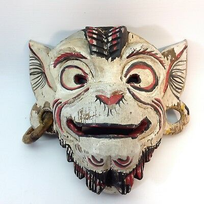 Vintage Indonesian / Balinese Hand Carved & Painted Mask