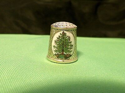 Vintage Versilbert W.Germany Silver Plated Christmas Tree Thimble ARS Ltd. Ed.