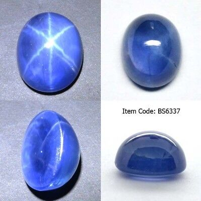 Oval 11x9 MM Synthetic Lab Created Blue Star Sapphire 6 Rays Corundum Cabochon