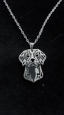 """Brittany Dog Cute Necklace, Pendant, Chain 18"""""""