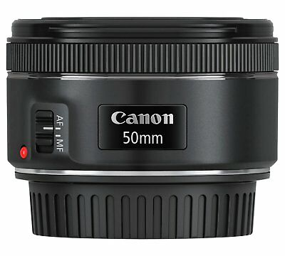 Brand New & Boxed Canon EF 50mm f/1.8 STM Lens for Canon Camera /Camcorder Black