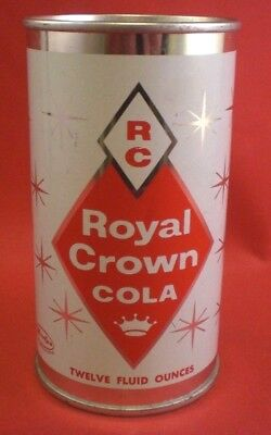 ROYAL CROWN COLA Flat Top Soda Pop 12 OZ Can Big Delta ALASKA  GR 1 Nice!