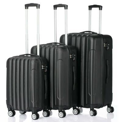 "3PCS 20""24""28"" Luggage Travel Set Bag Trolley Hard Shell Suitcase w/TSA lock US"