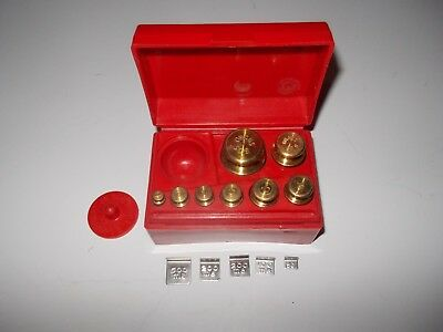 Ohaus Brass Scale Weight Set Grams & Milligrams