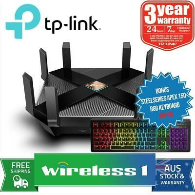TP-Link Archer AX6000 Wi-Fi Router With Steelseries Apex 150 RGB Keyboard