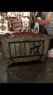 Antique Vintage 1950s Mid Century Circus Wagon Kids Toy Chest