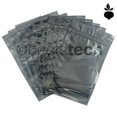 Anti-Static ESD Shielding Bag Silver Zip-Lock Reclosable Bags 3x,5,6,8,10,14""
