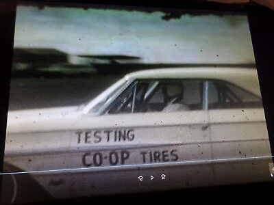 FORD GALAXIE & TRUCK, AUTO TIRE TESTS Rare 8MM Vintage Home Movie Film Reel C102