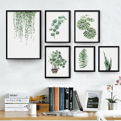 Nordic Wall Hanging Abstract Plant Leaf Art Poster Print Wall Picture Home Decor