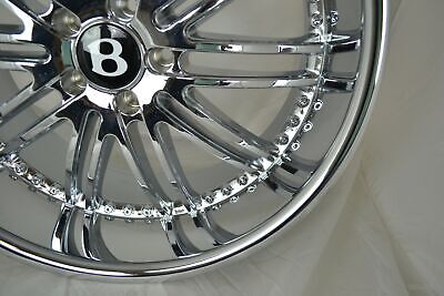 22-inch Bentley Mercedes Benz Wheels/Rims Staggered GTX23 Chrome 5x112 Lugs
