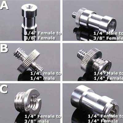 "6 in 1 1/4"" 3/8"" Screw 5/8"" Spigot Stud convert Adapter for Camera Tripod Stand"