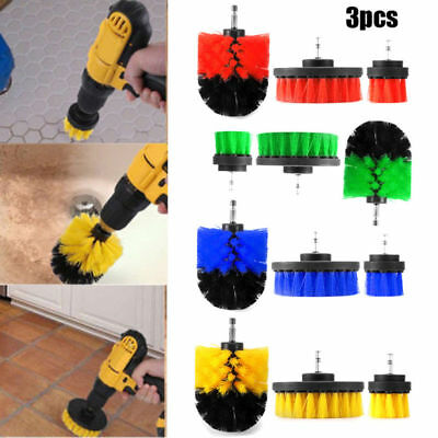 Drill Brush Attachment Kits 3 pcs Cleaner Scrubbing Brushes for Cleaning Tub USA
