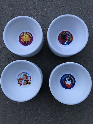 2018 Set Of 4 Unique Rare Kelloggs Cereal Bowls Brand New Collectible!!