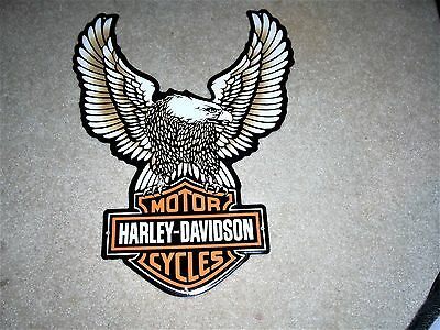Harley Davidson Eagle Motorcycles Metal Tin Tacker Sign New