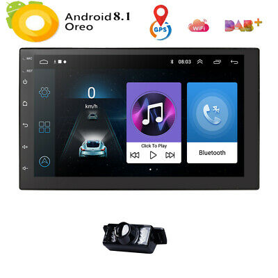 "7"" Android 8.1 Car GPS MP3 Player Radio Stereo Navi Universal 1024*600 Bluetooth"