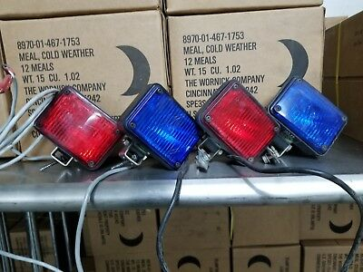 Federal Signal Lights Model Gs1/series a 2 blue 2 red