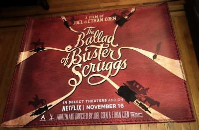 The Ballad of Buster Scruggs 5FT SUBWAY Movie Poster JOEL AND ETHAN COEN 2018