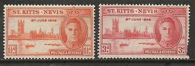 St. Kitts & Nevis - Victory & Peace - Mint Pair