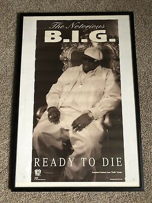 EXTREMELY RARE! Original THE NOTORIOUS BIG Ready To Die PROMO Poster Bad Boy CD