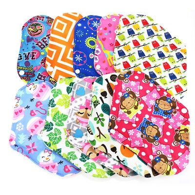 5Pcs Reusable Bamboo Cotton Menstrual Cloth Pads Postpartum Sanitary Napkin Mat