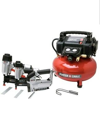 NEW - Porter Cable PCFP12234 6Gal Air Compressor Combo Kit