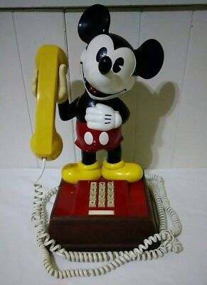 1976 ATC Disney Mickey Mouse Touch Tone Telephone Phone TESTED WORKS VERY RARE