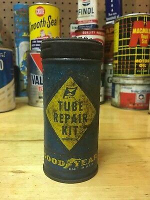 Vintage GOOD YEAR Tire Tube Repair Kit Tin With Contents