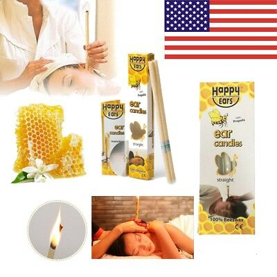 US Natural Beeswax Candling Cones for Ear Candling Homeopathic Aromatherapy Wax