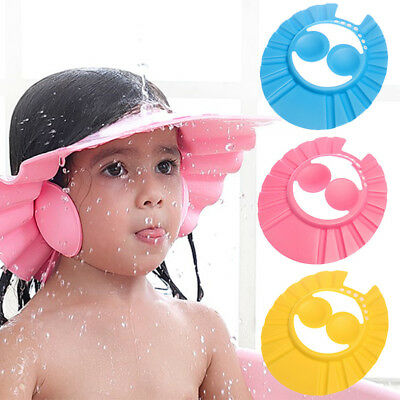 Bathroom Soft Shower Cap Wash Hair Cover Head Hat for Baby Toddler Kids Bathing