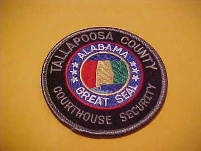 Tallapoosa Alabama Courthouse Security Police Patch Shoulder Size Unused 3 X3 In