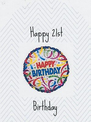 SET OF 6 X PERSONALISED 89 x120.7MM HAPPY 21ST BIRTHDAY WINE BOTTLE LABELS