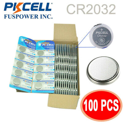New 100p CR2032 DL2032 ECR2032 3V Button Coin Cell Watch Batteries High Quality