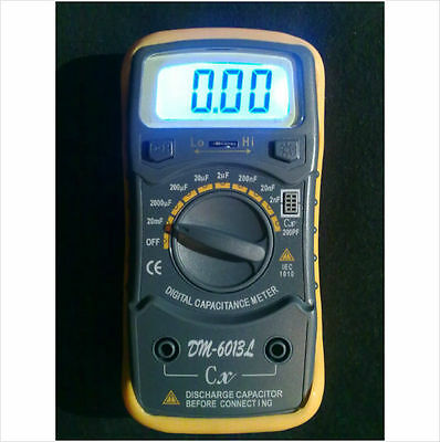 Capacitor / Capacitance / Elco / Elko tester meter. DM-6013L. Gift suggestion