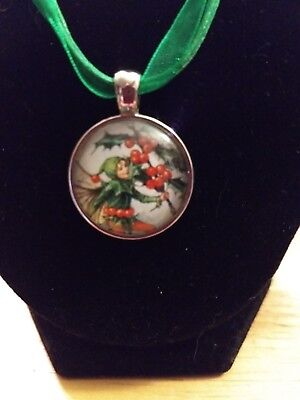 New Elf And Holly Ribbon Necklaces